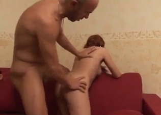 Sister's tight pussy fucked from behind