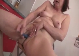 Sexy auntie gives my brother a blowjob