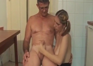 Pigtailed chick is enjoying dick riding
