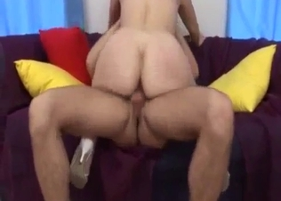 Intensive dick-riding with awesome daughter