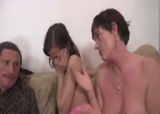 Mom and her daughter sharing a big dick