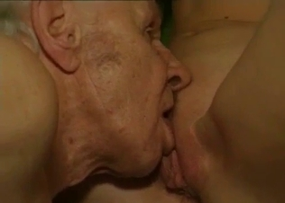 Bald dad fucked his sexy young daughter