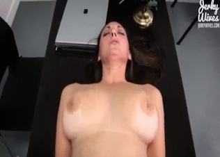 Sexy busty mom drilled in missionary pose