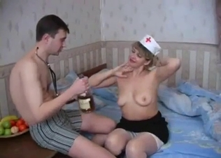 Mom nurse and her perverted young son
