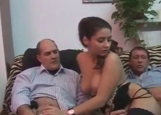 Hot female sucks a boner of her daddy