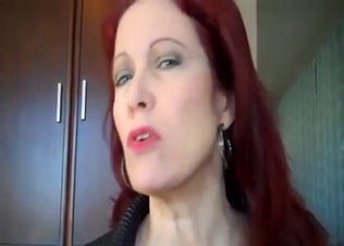 Redhead mommy stimulates her dirty son