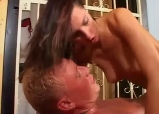 Slender sis jumps on big boner of uncle