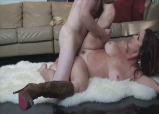Busty mother hardly fucked by young man