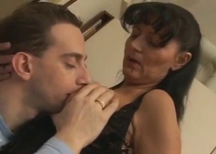 Busty mom and perverted son have sex