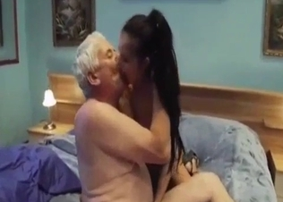 Old man fucked by his awesome stepdaughter