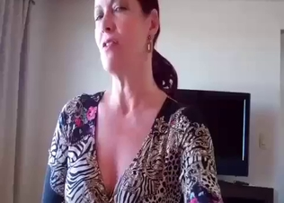 Sexy mom takes care of her filthy son