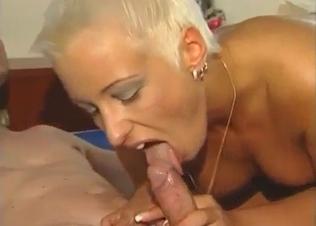 Golden mommy is enjoying dick-sucking so much