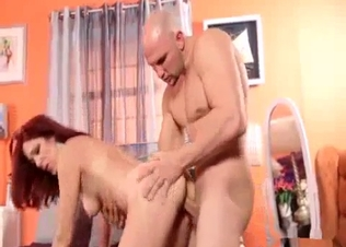 Redhead hottie drilled hard by older brother