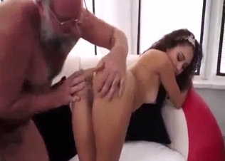 Good and hot granddaughter rides an old dick