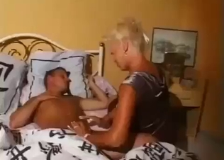 Golden beauty blows her sleepy brother