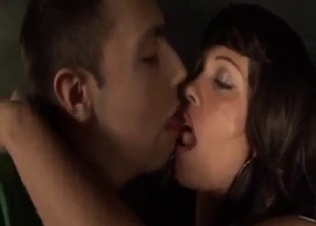 Brunette babe opens pussy for her brother