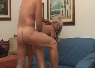 Busty toned chick gets fucked by daddy