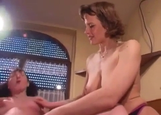 Good mom stimulates by her own son