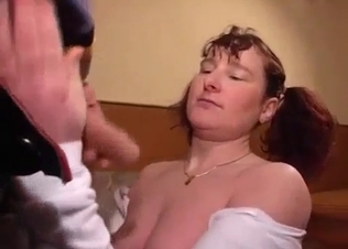 Fat brunette fucked by her own brother