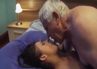 Daddy drills his daughter with pleasure