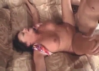 Busty brunette fucked hard by her own son