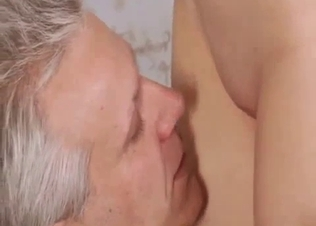 Blonde babe licked by lustful relative