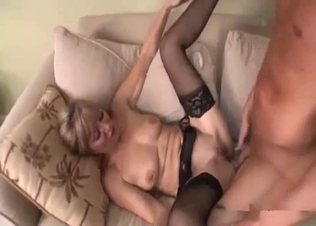 High-heeled sisted impaled in the doggy style