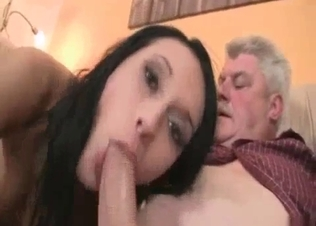 Fat old dad banged his sexy young daughter