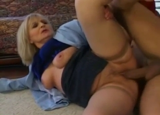 Blonde sister eats her brother's big cock