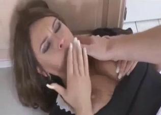 Brunette sister is enjoying hardcore anal sex