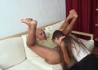 Undressing and sucking my father's big boner
