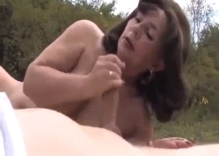 Young son nicely fucked by his own mother