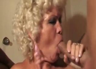 Blonde bitch sucks her brothers in bedroom