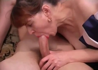Awesome busty mom jumps on a loaded dick
