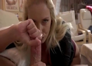 Cute older sister jerks my loaded dick