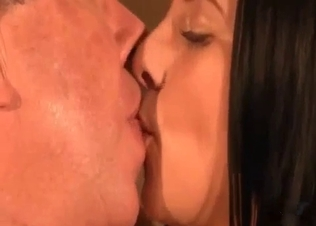 Fat old dad licks his daughter's snatch