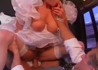 Bitchy bride fucked hard by her relative