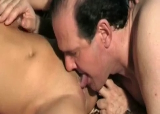 Old man licks a pussy of a hot daughter