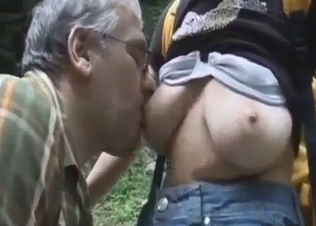 Daddy plays with his big-boobed daughter