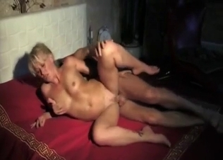 Mommy blonde drilled by perverted son