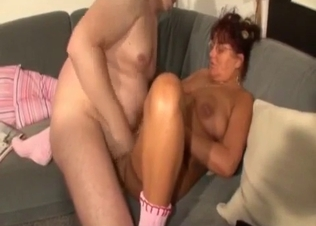 Fat dad cums on his lustful wife