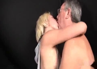 Blonde beauty and her filthy far daddy