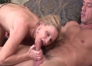Big-bottomed chick sucked her horny son