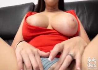 Busty chick licked by her own son