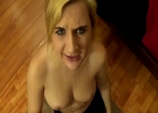 Blonde cutie asked me to fuck her twat