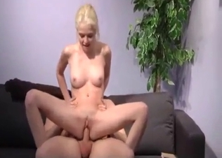 Blonde sister really likes my huge dick